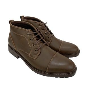 Perry Ellis Portfolio Chukka Laced Up Boots Brown